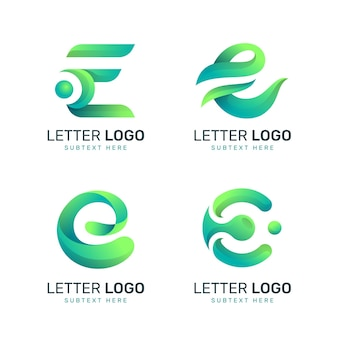 Farbverlauf e logo-sammlung