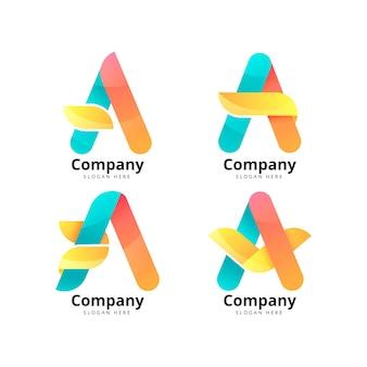 Farbverlauf einer logo-vorlagensammlung