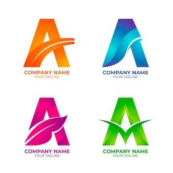 Farbverlauf einer logosammlung