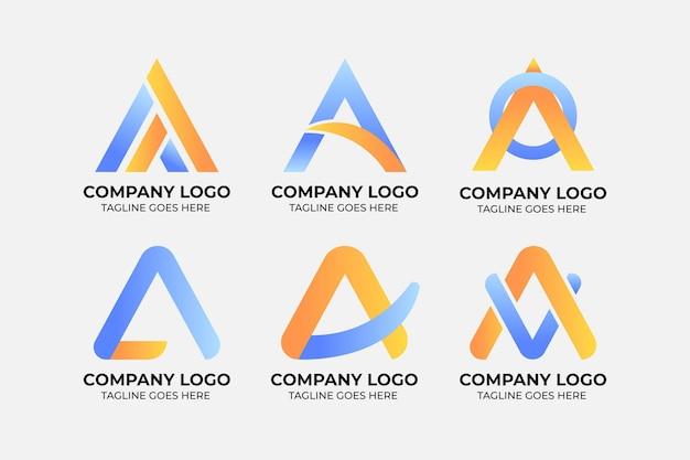 Farbverlauf einer sammlung von logo-vorlagen