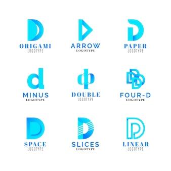 Farbverlauf farbige d logo-sammlung