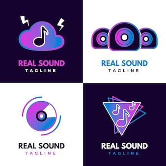 Farbverlauf farbige dj-logo-sammlung