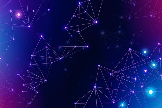 Farbverlauf farbiger netzwerkverbindungshintergrund