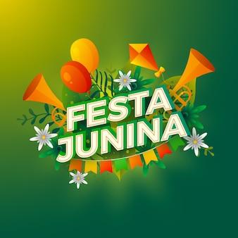 Farbverlauf festa junina sammlung