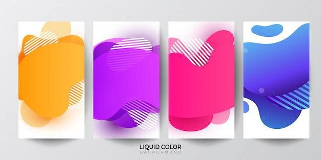 Farbverlauf flüssiger farbverlauf formt hintergrund.