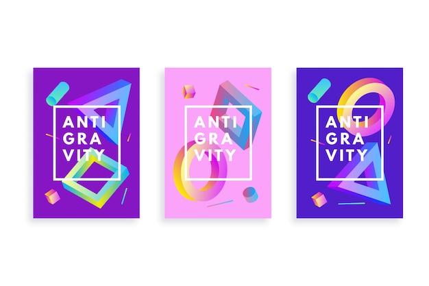 Farbverlauf flyer vorlage mit geometrischen formen