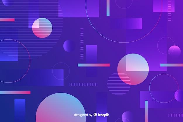Farbverlauf formen geometrisches design
