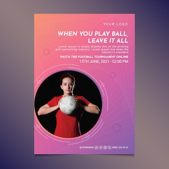 Farbverlauf fußballplakat