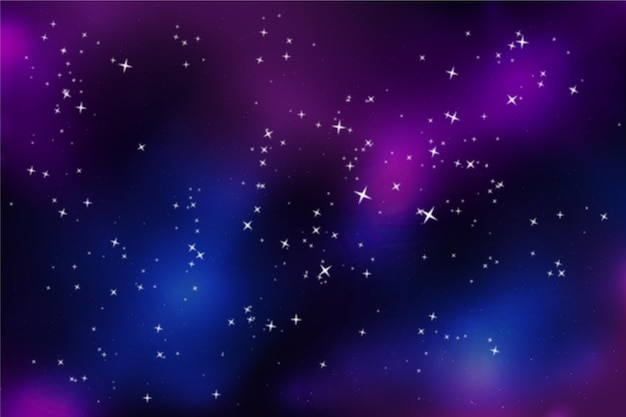 Farbverlauf galaxie hintergrund mit sternen