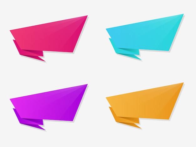 Farbverlauf geometrische banner gesetzt.
