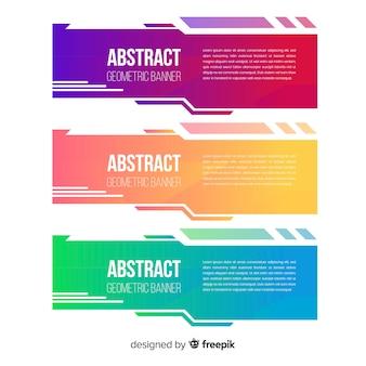 Farbverlauf geometrische bannerpackung