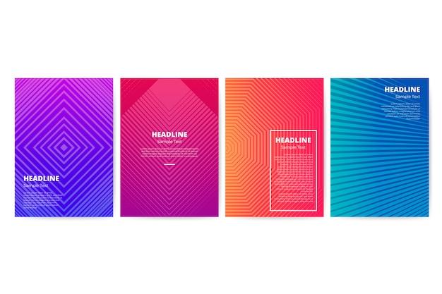 Farbverlauf geometrische flyer vorlagensatz