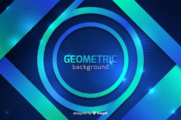 Farbverlauf geometrische formen hintergrund