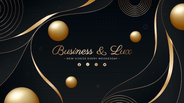 Farbverlauf goldene luxus-youtube-kanal-kunst