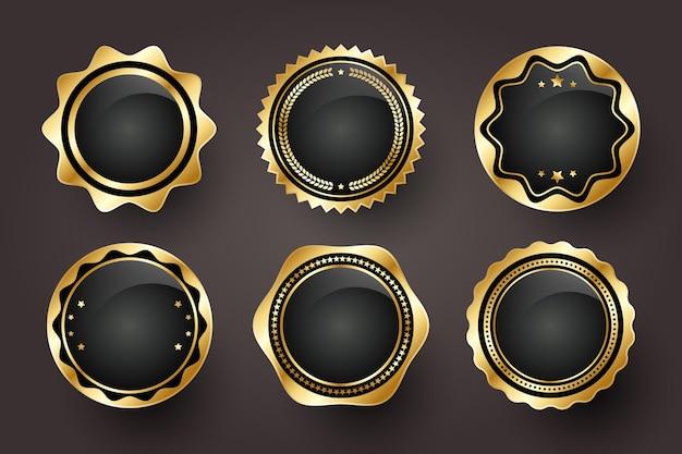 Farbverlauf goldene luxusetikettenkollektion
