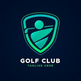 Farbverlauf golf logo vorlage