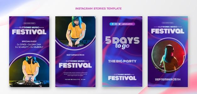 Farbverlauf halbton-musikfestival ig geschichten