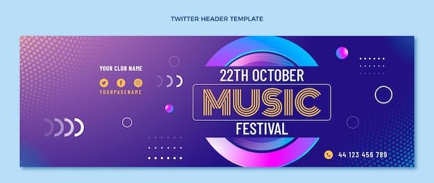 Farbverlauf halbton-musikfestival twitter-header