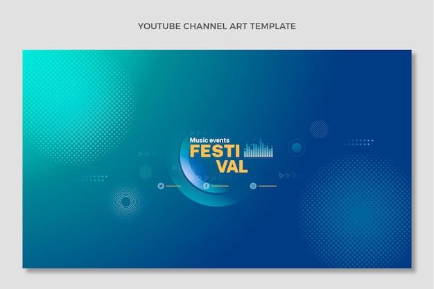 Farbverlauf halbton-musikfestival youtube-kanalkunst Kostenlosen Vektoren