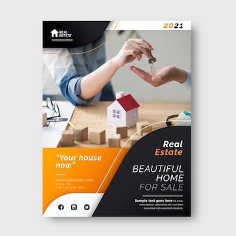 Farbverlauf-immobilienplakat mit druckfertigem foto
