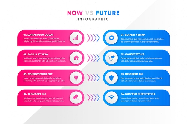 Farbverlauf jetzt gegen zukünftige infografik-vorlage