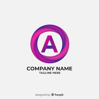Farbverlauf logo mit abstrakten form