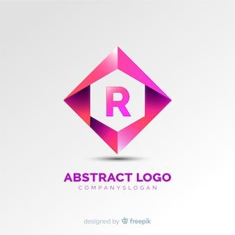 Farbverlauf logo vorlage mit abstrakten form