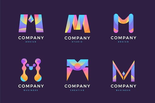 Farbverlauf m logo sammlung