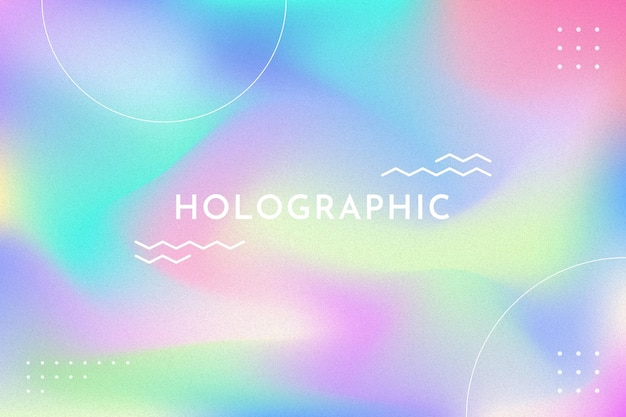 Farbverlauf mit holografischem bannerhintergrund des korns