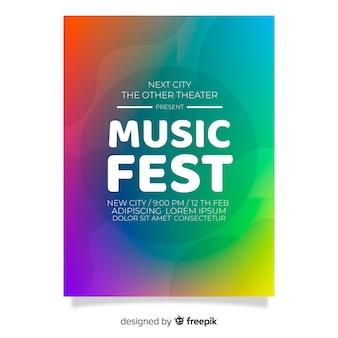 Farbverlauf musik festival poster vorlage