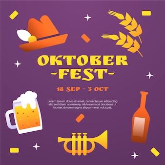 Farbverlauf oktoberfest illustration