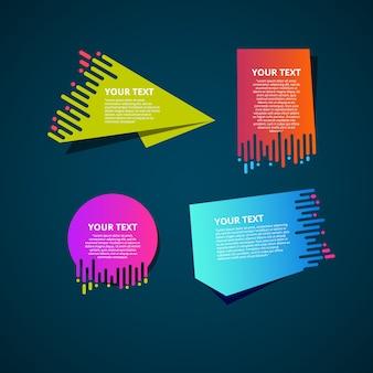Farbverlauf origami banner gesetzt