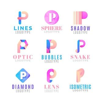 Farbverlauf p logo-sammlung