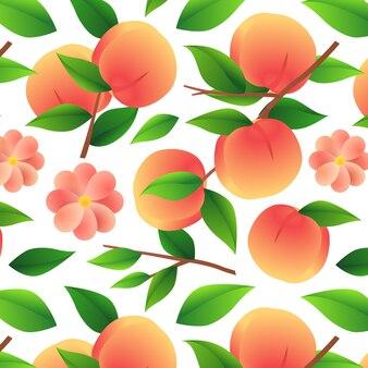 Farbverlauf pfirsichmuster design
