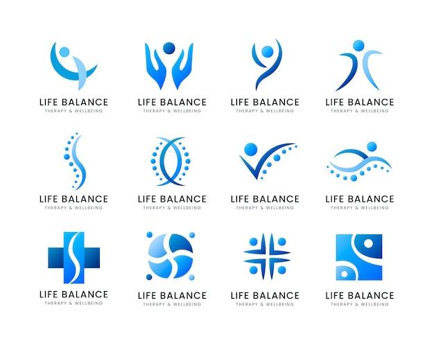 Farbverlauf-physiotherapie-logo-kollektion