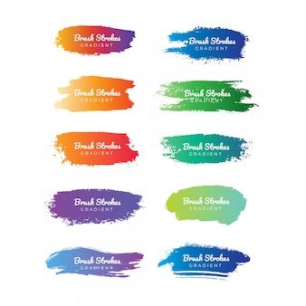 Farbverlauf pinselstrich sammlung
