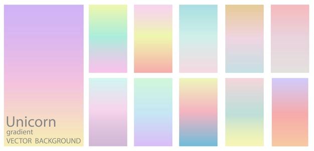 Farbverlauf regenbogen hintergrund set