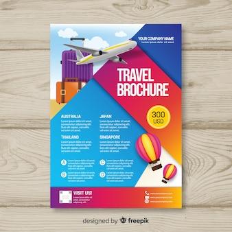 Farbverlauf reise flyer vorlage