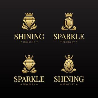 Farbverlauf schmuck logo sammlung