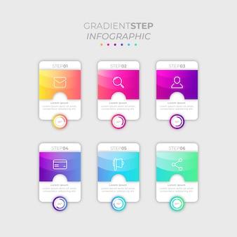 Farbverlauf schritt infographik