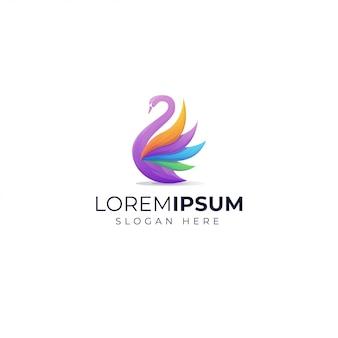 Farbverlauf schwan logo vorlage