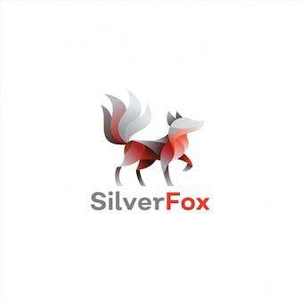 Farbverlauf silberfuchs logo design