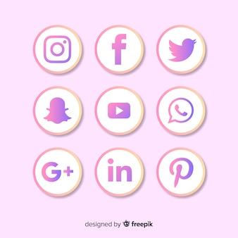 Farbverlauf social-media-logo-auflistung