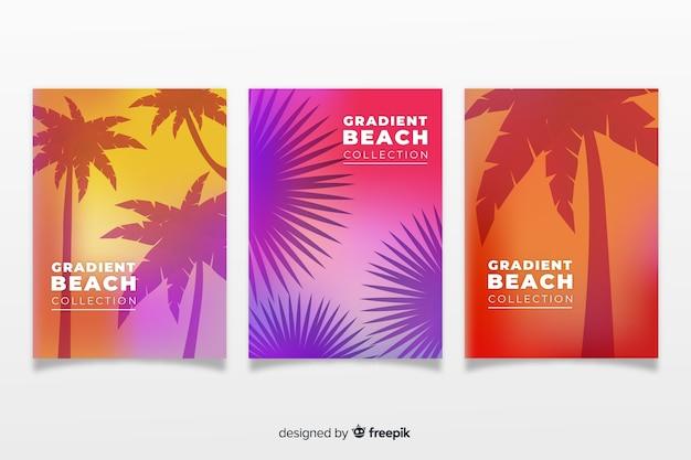 Farbverlauf strand decken sammlung