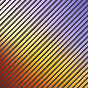 Farbverlauf streifenmuster, abstrakter geometrischer hintergrund. luxuriöser und eleganter stil illustration