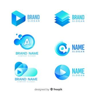 Farbverlauf technologie logo vorlagensammlung