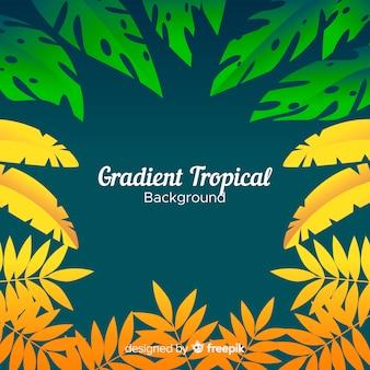 Farbverlauf tropischen hintergrund