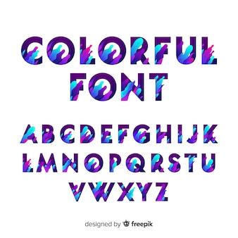 Farbverlauf typografie alphabet vorlage