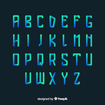 Farbverlauf typografie vorlage