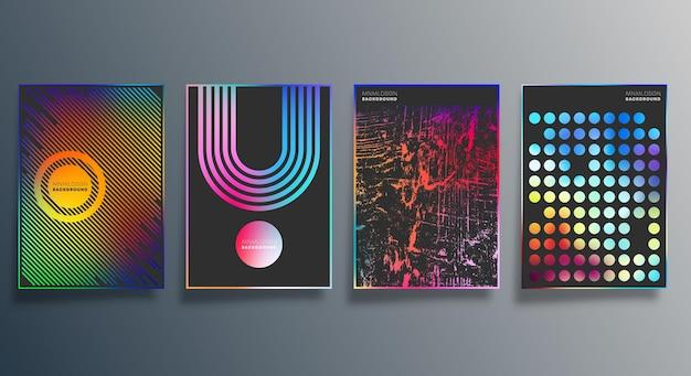 Farbverlauf und minimales liniendesign für hintergrund, tapete, flyer, poster, broschürencover, typografie oder andere druckprodukte. vektor-illustration